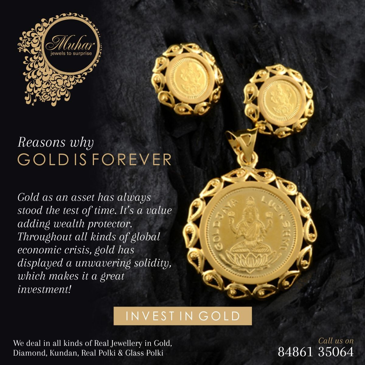 Gold coin jewellery